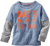 "Osh Kosh Boys 4-7 Dad's MVP"" Mock-Layer Tee"