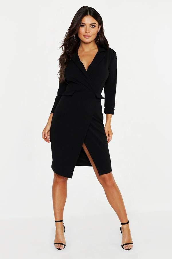 boohoo Pocket Detail Blazer Dress