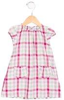 Petit Bateau Girls' Gingham Cap Sleeve Dress
