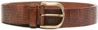 Brunello Cucinelli Snakeskin-Effect Buckle Belt