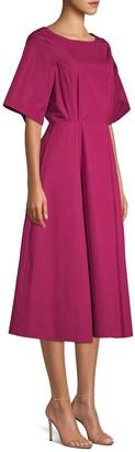 Derek Lam Short Sleeve A-Line Midi Dress