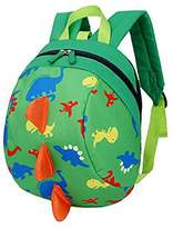YUHUAWYH Cute Dinosaur Backpacks Kids Toddler School Bags Anti Lost Boys Girls (pink)