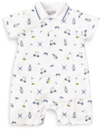 Kissy Kissy Baby Boy's Double Bogey Golf-Print Short Playsuit