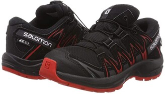 Salomon Xa Pro 3D Cswp (Little Kid/Big Kid) (Black/Black/High Risk Red) Kids Shoes