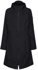 Ilse Jacobsen Long Black Raincoat - UK 8/DE 34/US 6