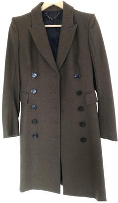 Burberry Khaki Wool Coat for Women