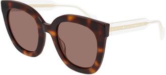 Gucci Colorblock Acetate Square Sunglasses