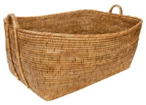 Artifacts Trading Company Rattan Everything Basket with Hoop Handles