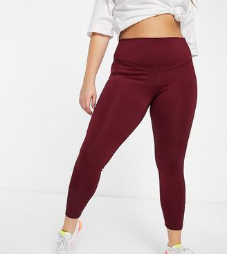 Nike Training Plus one tight leggings in red