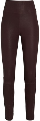 Sprwmn High-Waist Leather Ankle Leggings