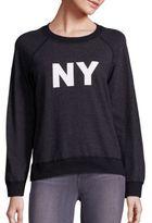 Monrow Vintage Cotton Blend Sweatshirt