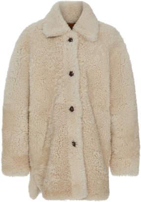 Isabel Marant Starvey Oversized Shearling Coat Size: 34