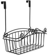 Spectrum Steel Scroll Medium Over-the-Door Basket in Black