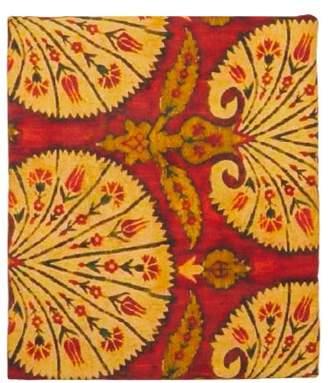 Les Ottomans - Floral Print 250cm X 150cm Cotton Twill Tablecloth - Orange Print
