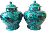 One Kings Lane Vintage Yuan-Style Hunters Ginger Jars