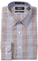 Nordstrom Smartcare(TM) Graphic Check Trim Fit Dress Shirt