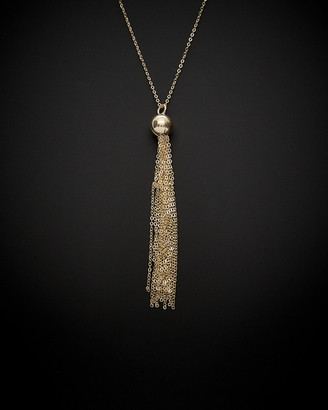 Italian Gold 14K Ball & Tassel Necklace