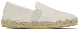 Kenzo Off-White Tiger Espadrille Sneakers