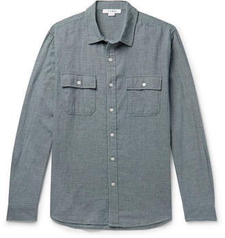 Frame Indigo-Dyed Puppytooth Cotton Shirt