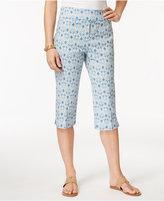 Alfred Dunner Blue Lagoon Printed Capri Pants