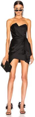 Alexandre Vauthier Strapless Wrap Mini Dress in Black | FWRD