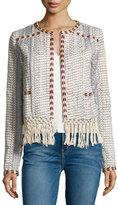 Tularosa Santa Fe Macrame Fringe-Trim Jacket, Multicolor