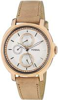 Fossil Women's ES3358 Chelsey Beige/Silver Stainless Steel Watch