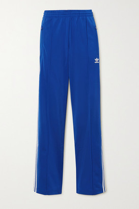 adidas Firebird Striped Satin-jersey Track Pants - Royal blue