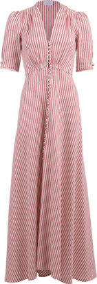 Luisa Beccaria Striped Button Down Dress