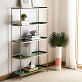 Everly Quinn Silsbee 5 Tier Etagere Bookcase Quinn Color: Green