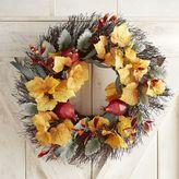 "Pier 1 Imports Faux Eucalyptus & Grape Leaf 24"" Wreath"
