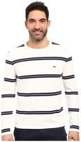 Lacoste Long Sleeve Crew Neck Stripe Tee