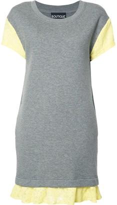 Boutique Moschino lace detailing T-shirt dress