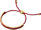 Links of London Ascot 18ct yellow-gold vermeil and cord mini friendship bracelet