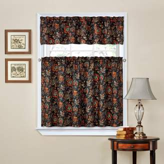 Waverly Portsmouth Home Traditions by Navarra Tier & Valance Kitchen Window Curtain Set