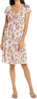 Ilse Jacobsen Paisley Empire Waist Jersey Dress