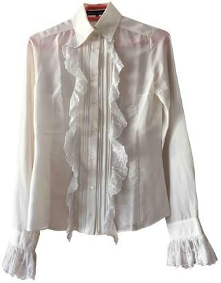 Barbara Bui Ecru Cotton Top for Women