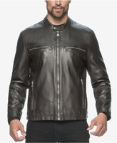 Andrew Marc Moto-Style Faux-Leather Jacket