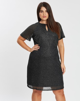 Dp Curve Boyfriend Keyhole Mesh Dress