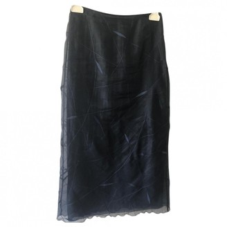 Philosophy di Alberta Ferretti Blue Silk Skirt for Women Vintage