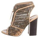 Proenza Schouler Laser Cut Leather Cage Sandals