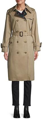 MACKINTOSH Muirkirk Wool Plaid Cotton Twill Trench Coat