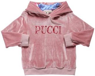 Emilio Pucci Logo Chenille Sweatshirt Hoodie