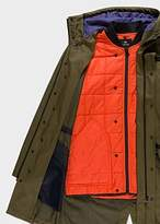 Paul Smith Men's Forest Green 2-In-1 Parka With Detachable Liner