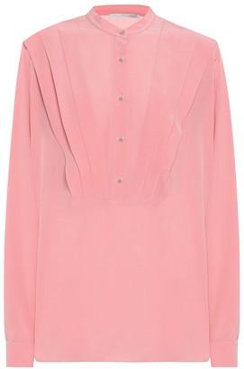 Stella McCartney Pleated silk-crepe blouse