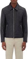 Officine Generale Men's Leather Zip-Front Jacket-BLACK