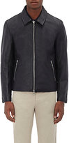 Officine Generale Men's Leather Zip-Front Jacket
