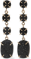 Melissa Joy Manning 14-karat Gold Druzy Earrings