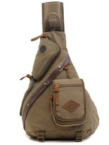Tibes Chest Pack Crossbody Bag Vintage Canvas Shoulder Sling Bag Rucksack for Men
