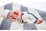 Mud Pie Infant Boy's Knit Baseball Trousers & Hat Set